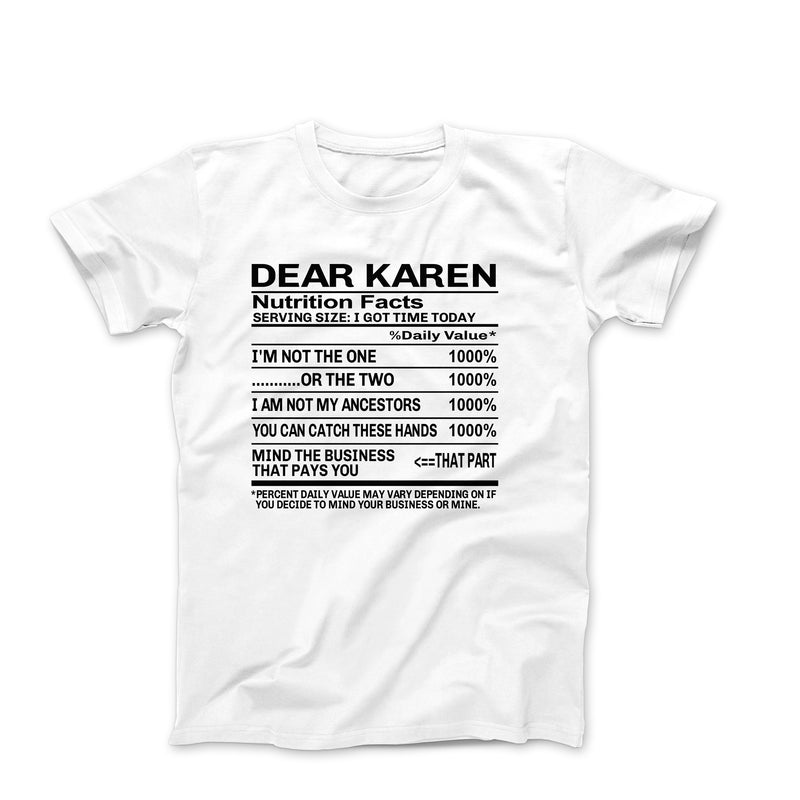 DEAR KAREN WHITE SHIRT