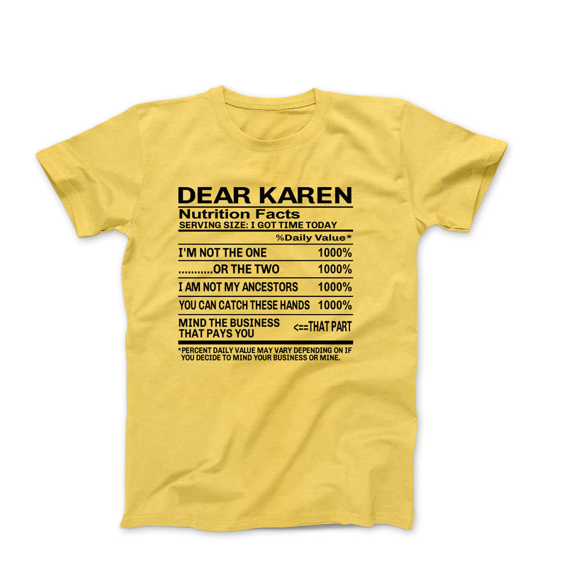DEAR KAREN YELLOW SHIRT