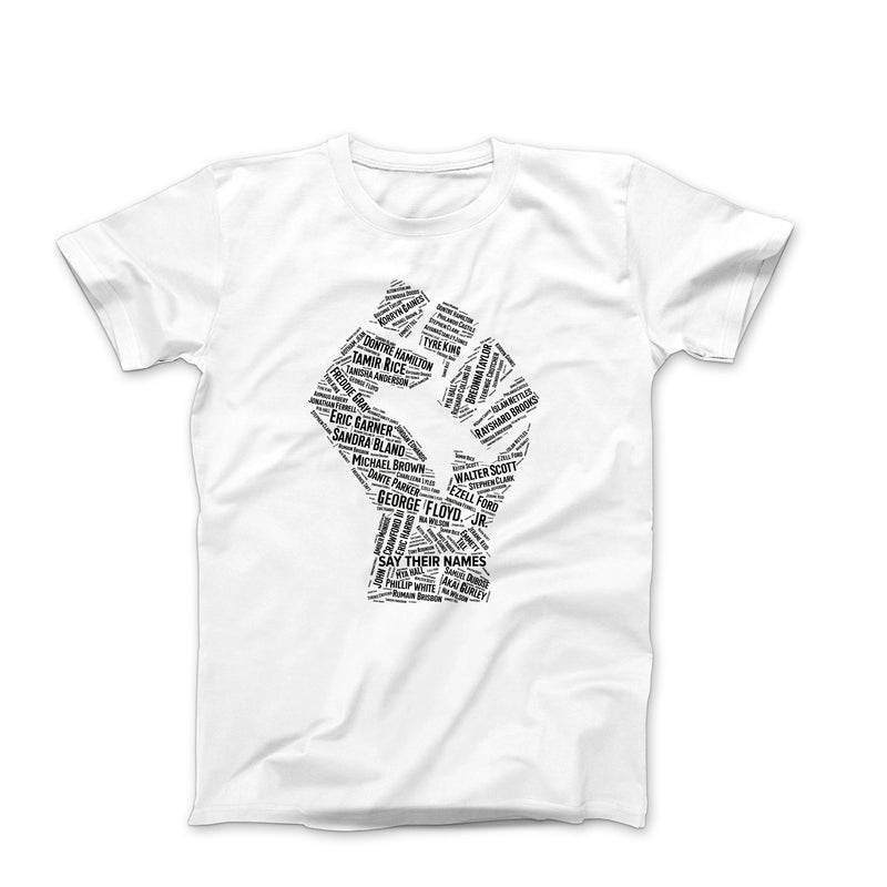 SAY THEIR NAMES BLACK LIVES MATTER WHITE TEE