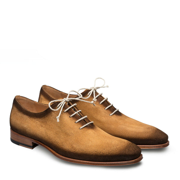 NEW Mezlan Mens Dress Shoe Fashion Suede Leather Hand Burnished Brown Honey