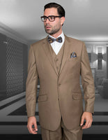 NEW Statement Mens Fashion Suit 3 PC Vest Modern Fit Solid Stzv-100 Bronze