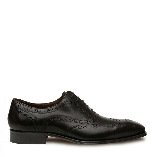 NEW Mezlan Dress Shoes Classic Wingtip Oxfords Genuine Leather Ugalde Black