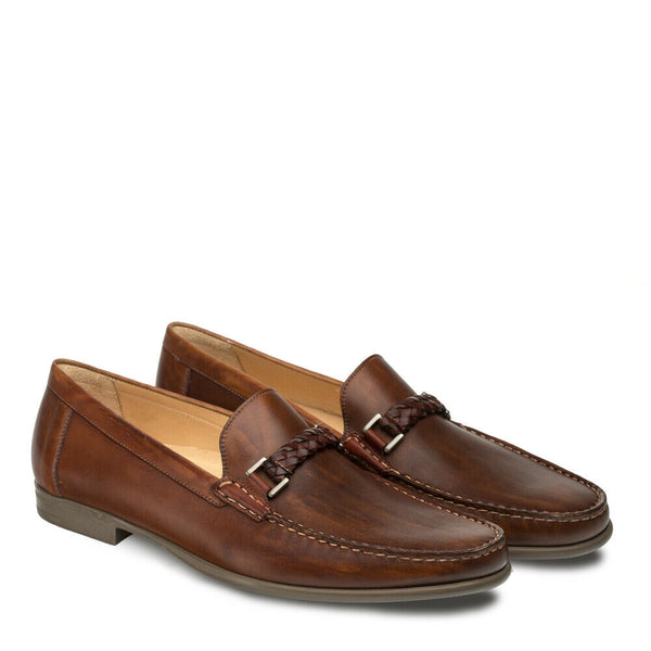 NEW Mezlan Mens Dress Shoes Loafers Moccasin Slip Genuine Leather Dorelli Brown