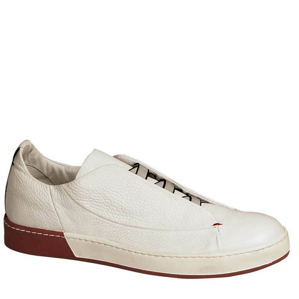 NEW Bacco Bucci Mens Fashion Premium Dress Sneaker Shoes Leather Pinto White