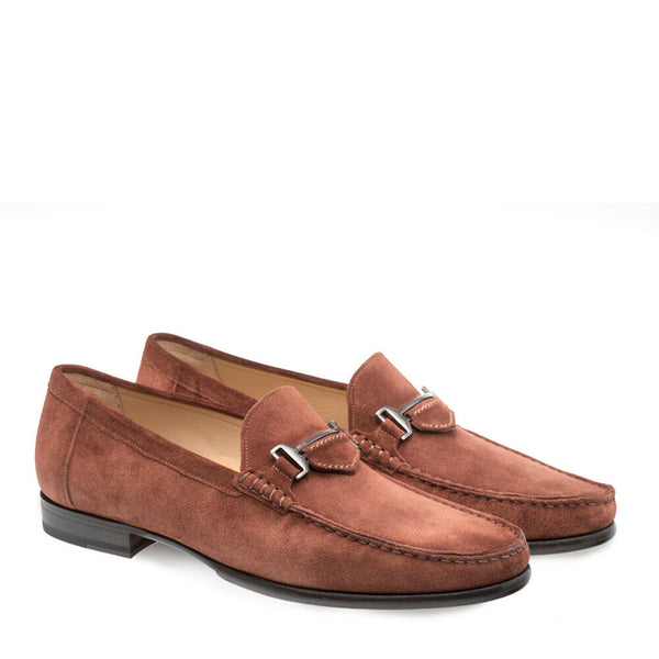 NEW Mezlan Dress Slip On Shoes Loafers Mocassin Suede Leather Marsella Cognac