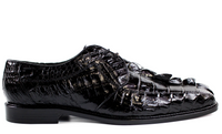 Belvedere Mens Shoes Colombo Genuine Crocodile Lace Up Elegant Oxford Black 1494