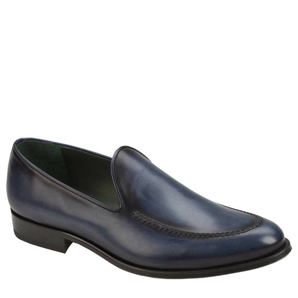 NEW Mezlan Dress Slip On Venetian Loafer Shoes Genuine Leather Rodin Navy Blue
