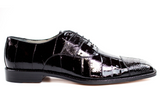NEW Belvedere Mare Genuine Ostrich Eel Black Mens Dress Shoes Lace Up FREE SHIP