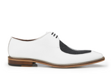 NEW Belvedere Mens Genuine Stingray Leather Exotic Dress Shoes Lace Mario White