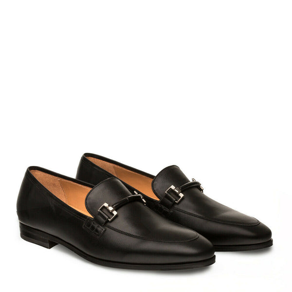 NEW Mezlan Soft Genuine Italian Leather Dress Loafer Slip On Shoes Gabino Black