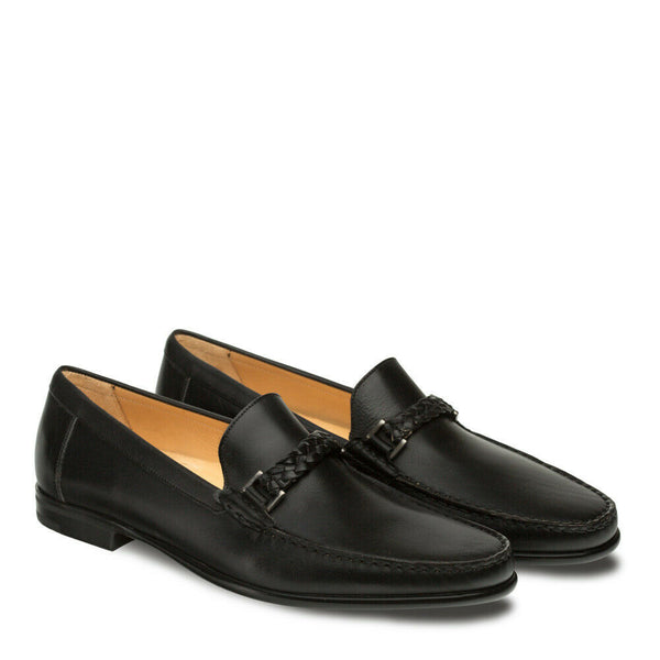 NEW Mezlan Mens Dress Shoes Loafers Moccasin Slip Genuine Leather Dorelli Black