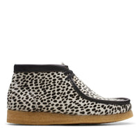 NEW Clarks Mens Originals Wallabee Boot Black Cheetah Print 26144799 Exclusive