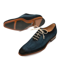 NEW Mezlan Mens Dress Shoe Fashion Suede Leather Hand Burnished Navy Blue