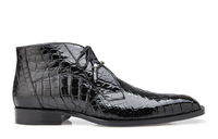 NEW Belvedere Mens Shoes Ankle Boots Stefano Genuine Alligator Black Lace Up