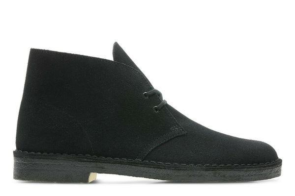 NEW Genuine Mens Clarks Originals Desert Boot Black Suede 26138227 Cheese Bottom