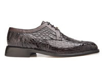 NEW Belvedere Susa Genuine Crocodile Dark Brown Mens Shoes Oxfords Lace Up