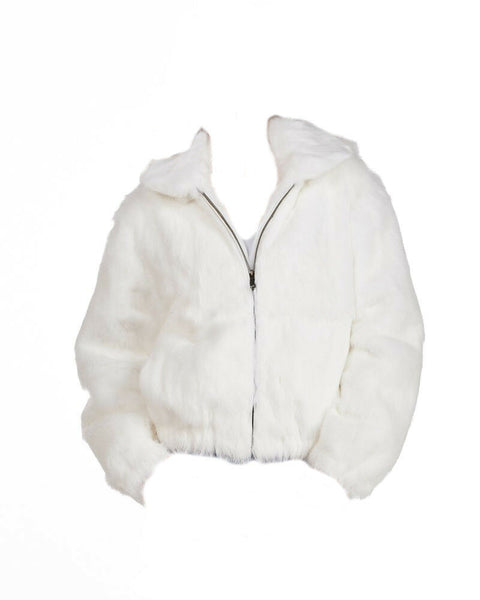 NEW Ladies Womens Genuine Mink Fox Rabbit 100% Real Authentic Fur Winter Jacket