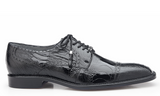 NEW Belvedere Batta Black Mens Dress Shoes Genuine Ostrich Lace up Oxfords