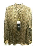 NEW Mens Creme De Silk Premium Fashion Classic Fit 100% Silk Shirt Size Small