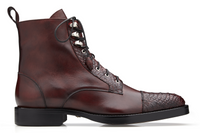 NEW Belvedere Mens Shoes Dress Boots Genuine Alligator Leather Burgundy Wine