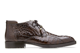 NEW Belvedere Mens Shoes Ankle Boots Genuine Hornback Crocodile Gaylord Brown