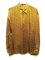 NEW Mens Creme De Silk Vintage Rare Multicolor 100% Silk Soft Shirt Size XL