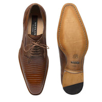 NEW Mezlan Genuine Lizard Skin Leather Exotic Dress Shoes Lace Up Pegaso Brown
