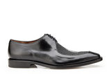 NEW Belvedere Mens Genuine Stingray Leather Exotic Dress Shoes Lace Mario Black