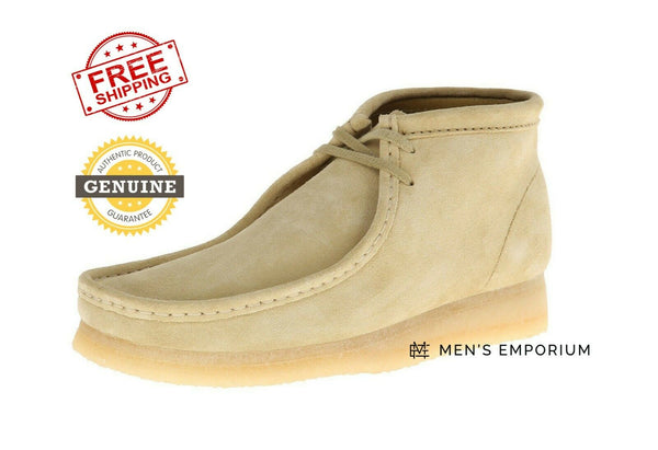 NEW Clarks Mens Originals Wallabee Boot Shoes Maple Suede Cheese Bottom 26133283