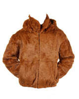 NEW Mens Genuine Mink Rabbit Fox 100% Real Authentic Fur Winter Coat Jacket USA