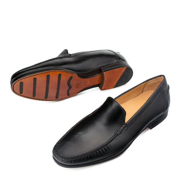 NEW Mezlan Genuine Calfskin Leather SlipOn Loafer Dress Shoes Napoles Black 7257