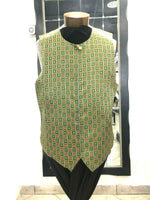 NEW Creme De Silk Mens Fashion Formal Vest 100% Silk Soft Touch Vintage Large