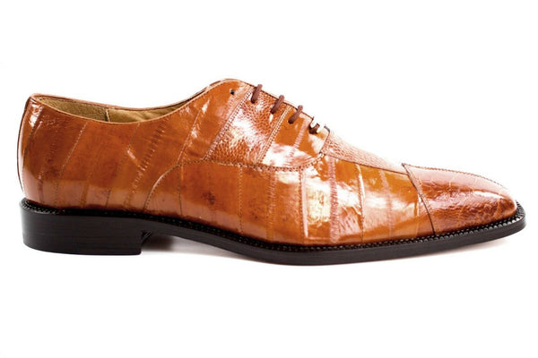 NEW Belvedere Mare Genuine Ostrich Eel Brown Mens Dress Shoes Lace Up FREE SHIP