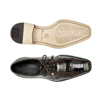 NEW Belvedere Batta Brown Mens Dress Shoes Genuine Ostrich Lace up Oxfords