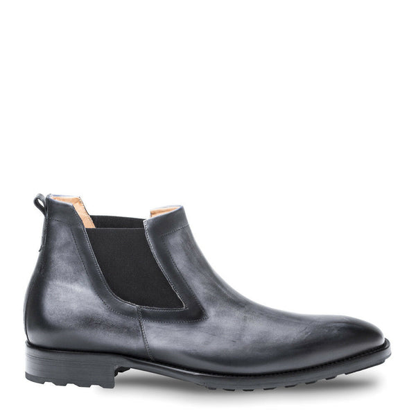NEW Mezlan Genuine Calfskin Leather Chelsea Boots Dress Shoes Omar Gray