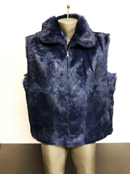 NEW Mens Genuine Mink Rabbit Fox 100% Real Authentic Fur Winter Vest Jacket USA