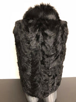 NEW Mens Genuine Mink 100% Real Authentic Fur Winter Black Vest Jacket USA