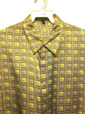 NEW Mens Creme De Silk Fashion Vintage Multicolor 100% Silk Soft Shirt Size XL