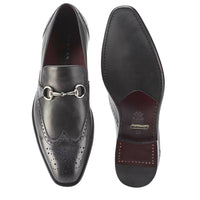 NEW Mezlan Dress Slip On Wingtip Loafer Shoes Genuine Leather Conquista Black
