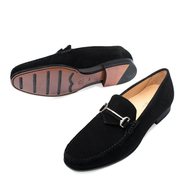 NEW Mezlan Dress Slip On Shoes Loafers Mocassin Suede Leather Marsella Black