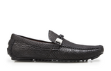 NEW Belvedere Zante Genuine Shark Mens Driving Loafers Shoes Slip On Black