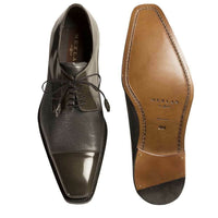 NEW Mezlan Mens Dress Shoes Lace Genuine Deerskin Leather Soka Cap Toe Gray