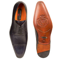 NEW Mezlan Classic Cap Toe Dress Shoes Genuine Calfskin Leather Boas Black