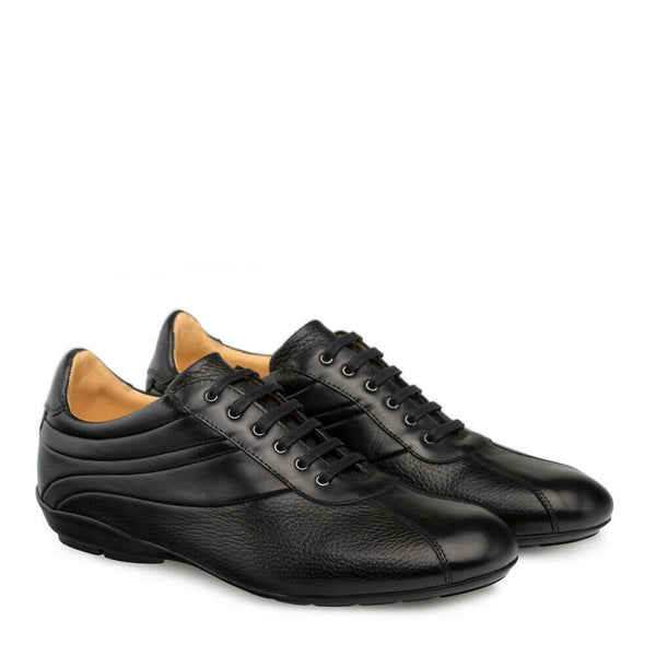 NEW Mezlan Genuine Calfskin Leather Sport Dress Shoes Lace Up Luka Black 9079