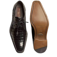 NEW Mezlan Genuine Crocodile Leather Exotic Dress Shoes Lace Up Anderson Black