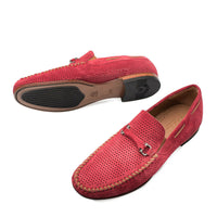 NEW Mezlan Dress Slip On Shoes Loafer Mocassin Suede Leather Marcello Cherry Red