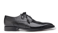 NEW Belvedere Mens Karmelo Genuine Lizard Leather Dress Shoes Lace Up Black