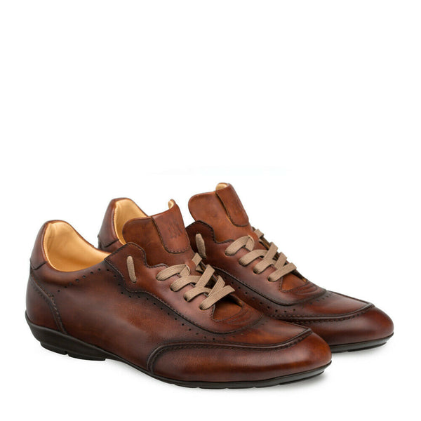 NEW Mezlan Genuine Calfskin Leather Sport Dress Shoes Tivoli Cognac Brown 9239