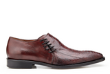 NEW Belvedere Mens Genuine Ostrich Leather Loafer Dress Shoes Savana Burgundy
