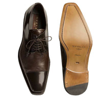 NEW Mezlan Mens Dress Shoes Lace Genuine Deerskin Leather Soka Cap Toe Brown